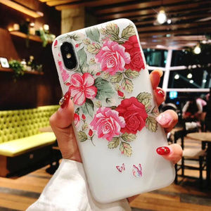 NEW iPhone SE/X/XS/Max/XR/7/8+ Floral Soft case